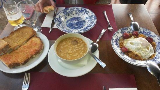 Nuévalos, España: Primeros platos. Ejemplo