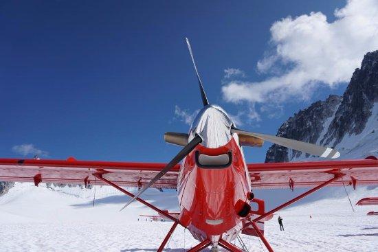 Talkeetna, Αλάσκα: Airplane on Glacier.