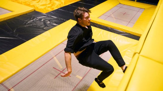 Avondale, Nova Zelândia: Skill-up with wall running on our performance trampolines.