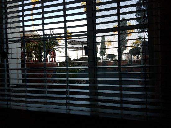 Portofino Hotel: Room #211 view onto the sun deck.