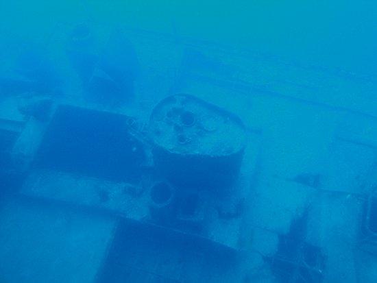 Wrackteil aus dem U-Boot fotografiert