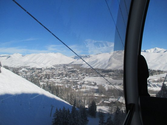 Bald Mountain: View riding the gondola up