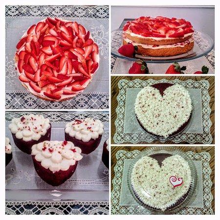 San Valentin Valentines Day Pastel De Fresas Con Crema Red