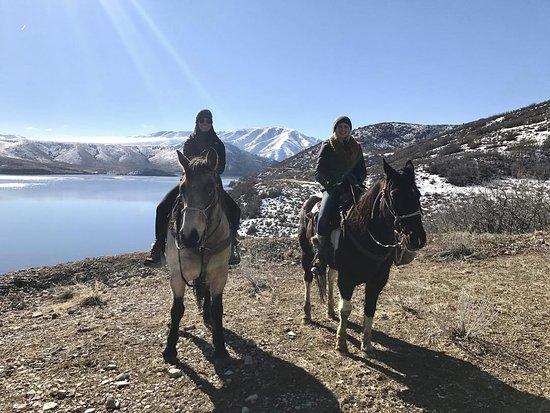 Midway, UT: Winter horseback ride Feb 2017