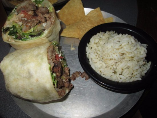 Charleston, Virginia Occidental: Steak Burrito