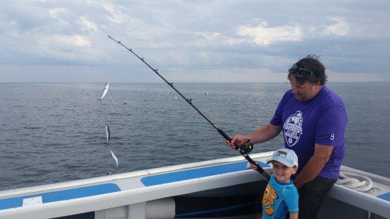 Antigonish, Kanada: Father and son making memories.