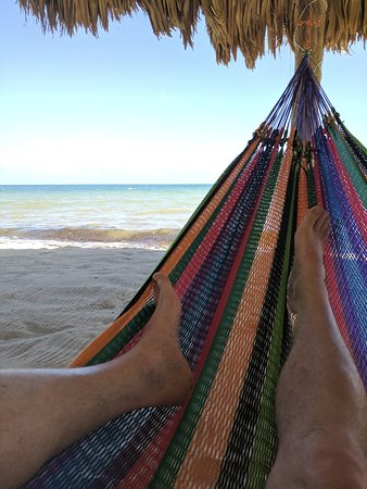 One of the hammocks by the sea...