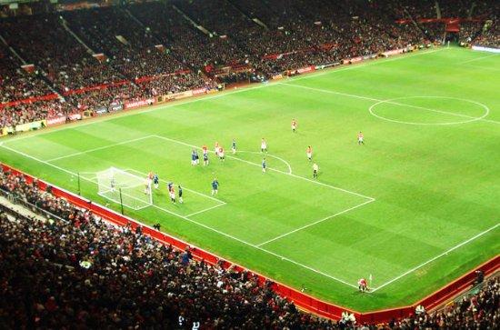 Fodboldkamp med Manchester United på...