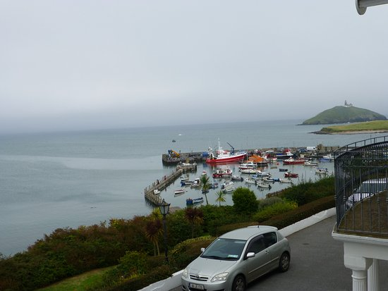 Ballycotton, Ireland: View of small harbour from the window