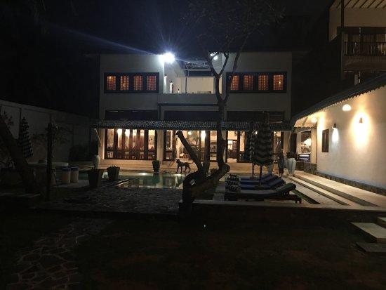 Mihiri Beach House and surrounding beach Feb 2017