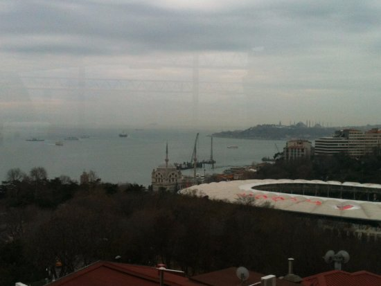 Hilton ParkSA Istanbul: View from the top floor restaurant