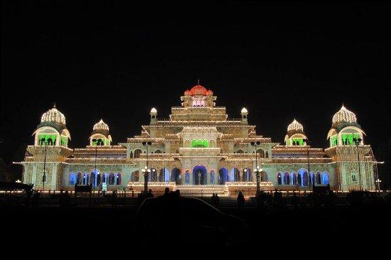 Rajasthan, India: Evening shot of the Albert Hall Museum at Jaipur