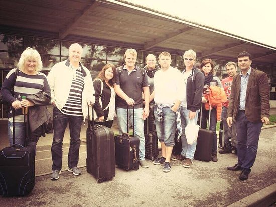 Bobigny, France: Group arrival at CDG airport