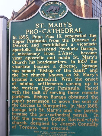 Sault Ste. Marie, MI: History Board of this Beautiful Church
