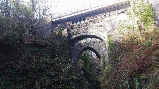 Devil's Bridge (Pontarfynach), UK: view from steps