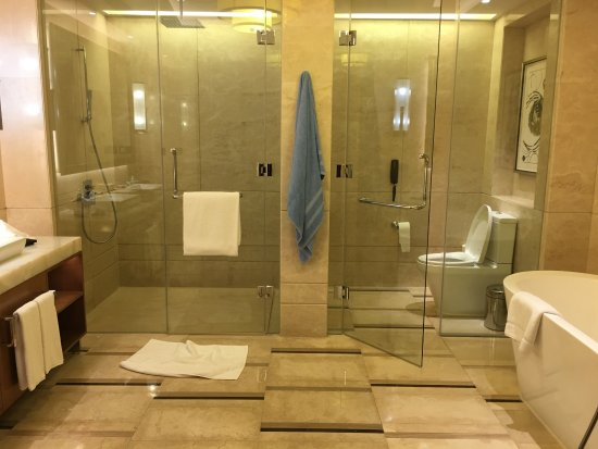 lavatory, shower, toilet and bath tub - Picture of Solaire Resort ...