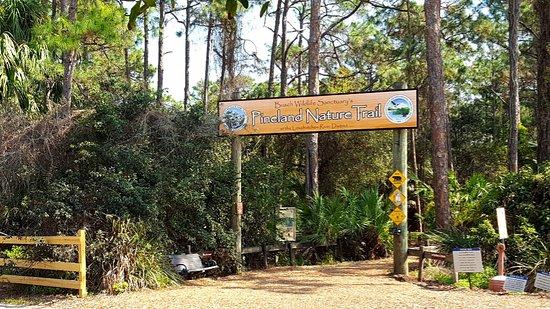 Jupiter, FL: Nature trail entrance