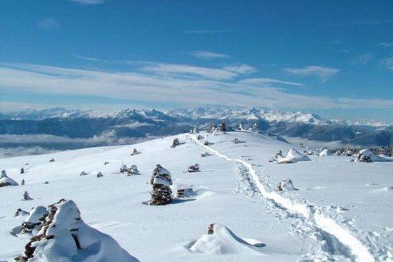 Meltina (Moelten), Italien: Winter in Mölten. Eignet sich super mit Schneeschuhen zum Wandern