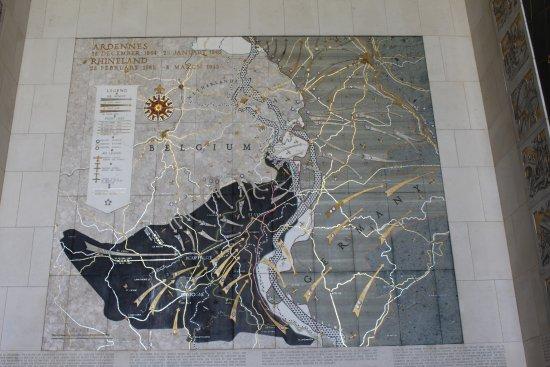 Neupre, Bélgica: mapa en el interior capilla