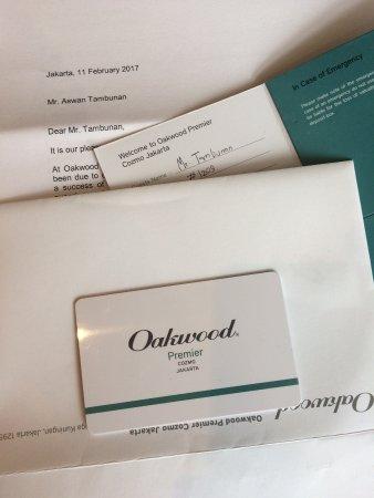 Oakwood Premier Cozmo Jakarta: Keycard 1209
