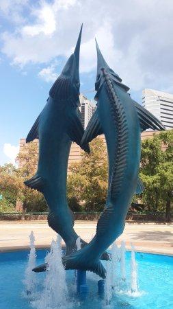 Downtown Aquarium: At the gate of the aquarium