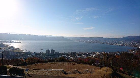 Suwa, Japón: 立石公園からの諏訪湖の眺め