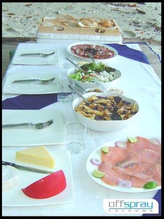ฉลอง, ไทย: Another fantastic Gourmet picnic lunch on a secluded beach