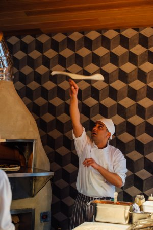 Pizza Chef in the kitchen at The Old Post Office in Wallingford