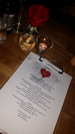 Lisburn, UK: Valentines menu.