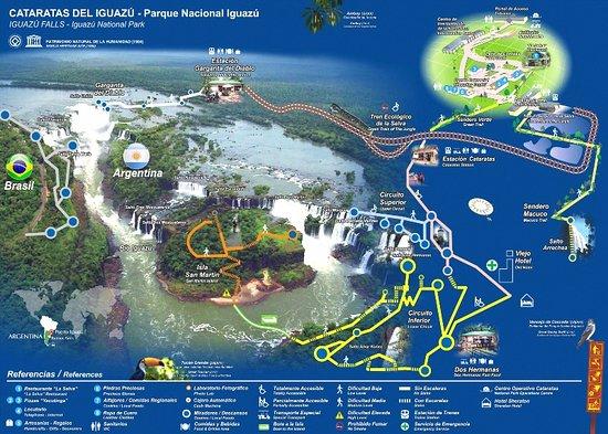 Mapa Cataratas Argentina Picture Of Ambiental Iguassu Travel - Argentina mapa