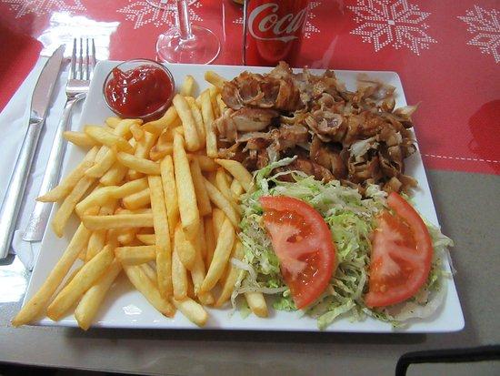 Dampierre-sur-Salon, Francia: assiette kebab frites