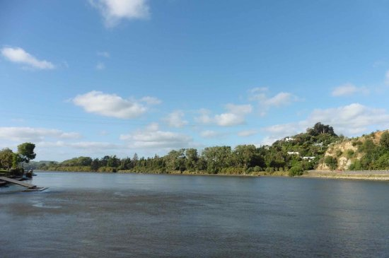 Wanganui, Nueva Zelanda: Typical view from cruise.