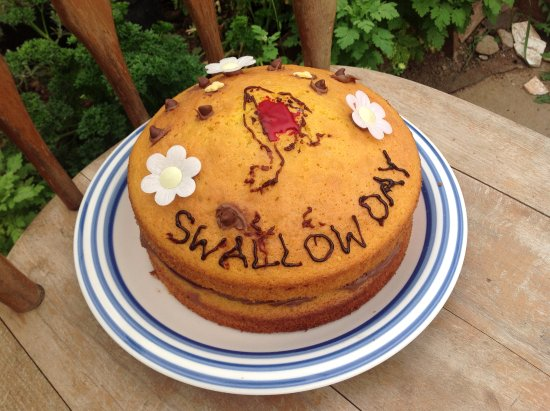 Winkleigh, UK: Every year when the swallows return we bake a cake. Will you be there to share it?