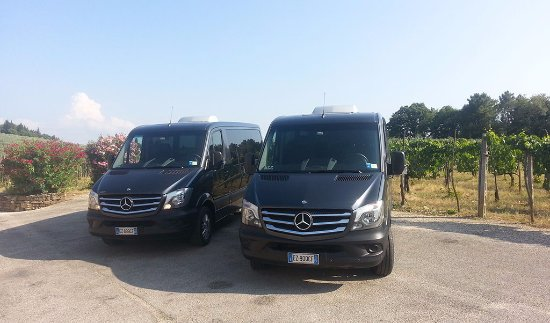 Prestige Rent: A couple of our vans waiting for clients during a wine tour in Tuscany