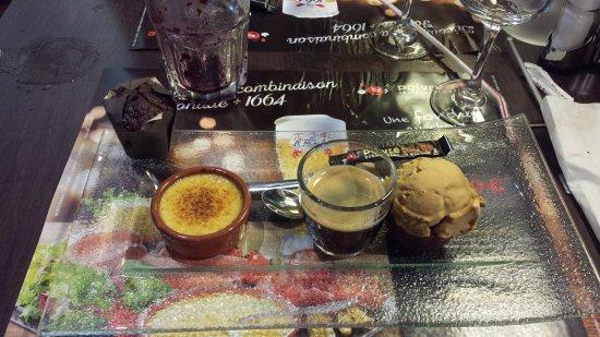 Amberieu-en-Bugey, France: café gourmand