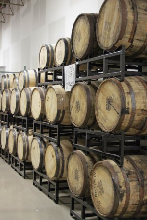 Frederick, MD: Barrels aging Bourbon and Rum
