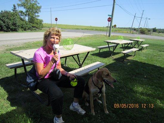Dundas, Canada: enjoying one of those cones.