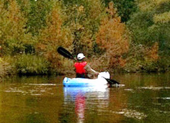 Boyne City, MI: Kayaking on nearby rivers and lakes is a popular activity for guests.