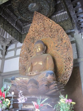 Kaneohe, Hawái: at the centre of the temple - the Buddha