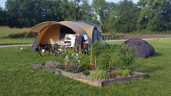 Longueville, France: Vaste emplacement pour tente