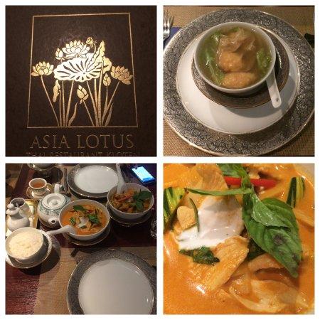 Kloten, Schweiz: Wantan-Suppe und Thai Red Curry