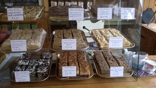 Chewton Mendip, UK: an original selection of cakes