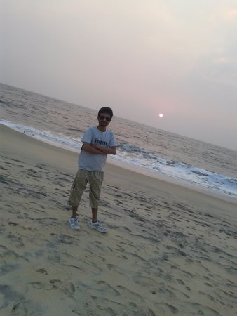 Casamaria Beach Resort: private beach at resort and nice sunset view