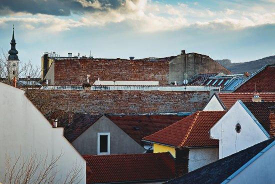 Presov, Slovakia: Výhľad z izby na mesto Prešov.