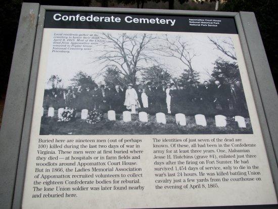 Appomattox, Wirginia: Establishing the Confederate Cemetery
