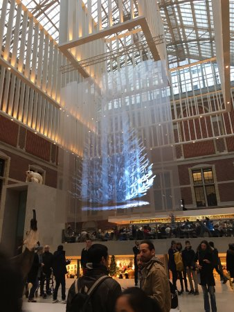 christmas tree hologram in the museum - Picture of Rijksmuseum ...