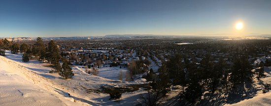 Billings, MT: Late afternoon panoramic view in January