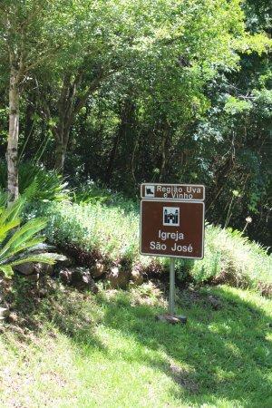 Capela São José: Placa indicativa da aatração
