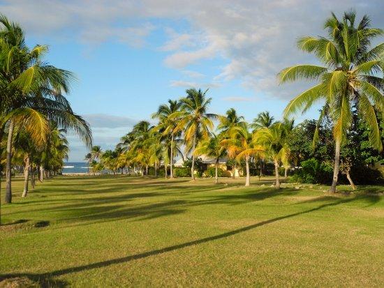 New Castle, Nevis: Towards the beach - our villa on the far right