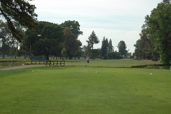 Atwater, CA: Mature trees line the fairways at Rancho Del Rey.